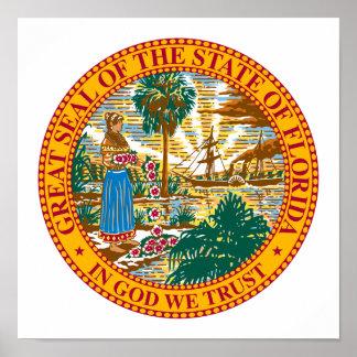 Florida State Seal Poster