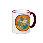 FLORIDA STATE SEAL RINGER COFFEE MUG