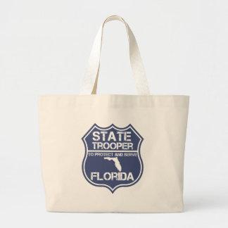 Florida State Trooper To Protect And Serve Jumbo Tote Bag