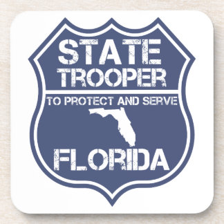 Florida State Trooper To Protect And Serve Drink Coaster