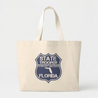 Florida State Trooper To Protect And Serve Large Tote Bag
