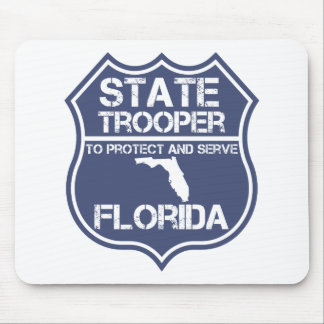 Florida State Trooper To Protect And Serve Mouse Pad