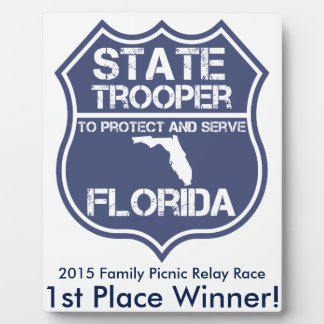 Florida State Trooper To Protect And Serve Plaque