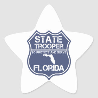 Florida State Trooper To Protect And Serve Star Sticker