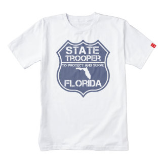 Florida State Trooper To Protect And Serve Zazzle HEART T-Shirt