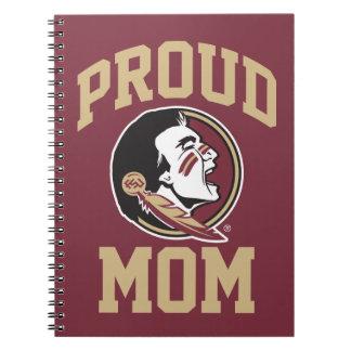 Florida State University Proud Mom Notebook