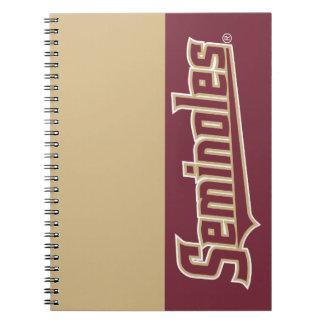 Florida State University Seminoles Spiral Note Book