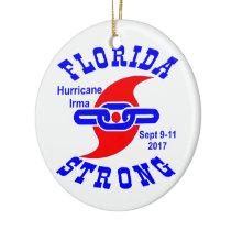 Florida Strong Hurricane Irma Ceramic Ornament