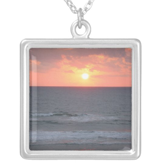 Florida Sunrise Silver Plated Necklace