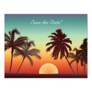 Florida Sunset 4.25x5.5 Paper Invitation Card