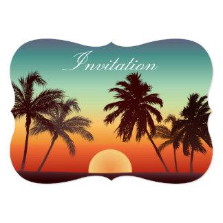 Florida Sunset 5x7 Paper Invitation Card