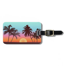 Florida Sunset Bag Tag