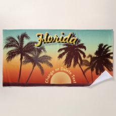 Florida Sunset Beach Towel