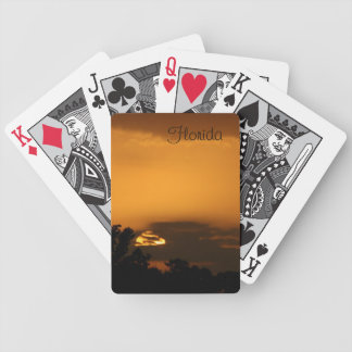 Florida Sunset Bicycle Playing Cards