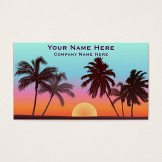 Florida Sunset Business Card
