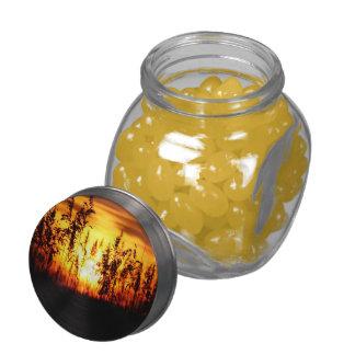Florida Sunset Glass Candy Jar