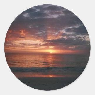 Florida Sunset Classic Round Sticker