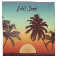 Florida Sunset Cloth Napkin