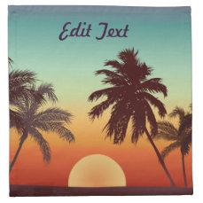 Florida Sunset Cloth Napkin