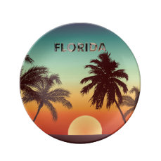 Florida Sunset Dinner Plate