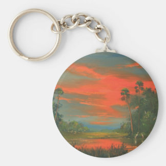 Florida Sunset 'Fire Sky' in the Wilderness Keychain