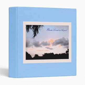 Florida Sunset in August 3 Ring Binder