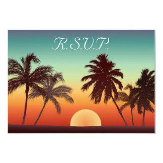 Florida Sunset 3.5x5 Paper Invitation Card