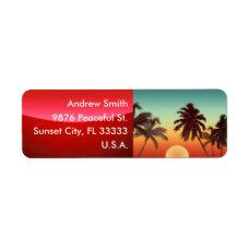 Florida Sunset Label