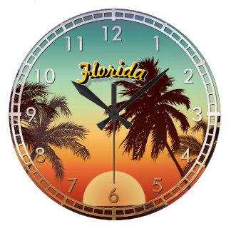 Florida Sunset Large Clock