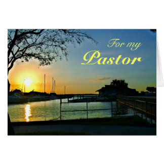 Florida Sunset Pastor Appreciation Card
