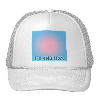 Florida Sunset Pink To Blue Trucker Hat