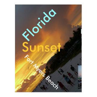 Florida Sunset Postcard - Fort Myers Beach
