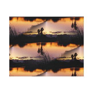 Florida Sunset Reflection Canvas Print