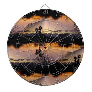 Florida Sunset Reflection Dartboard With Darts