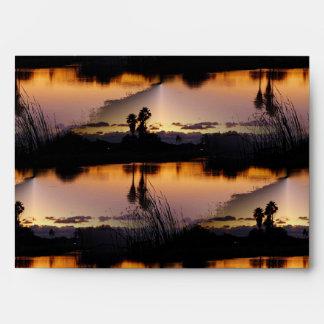 Florida Sunset Reflection Envelopes