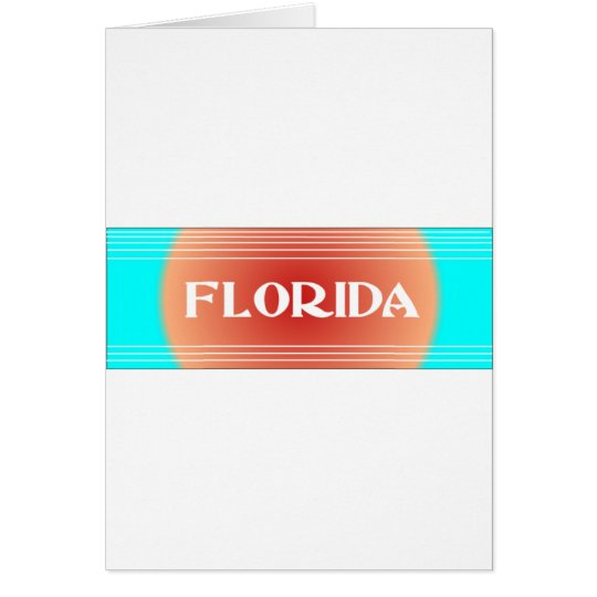 Florida Sunset Turquoise and Peach Card