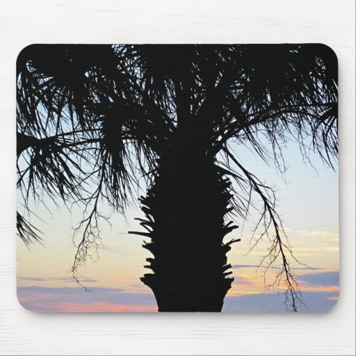 Florida Sunset with Palm Tree Mouse Pad