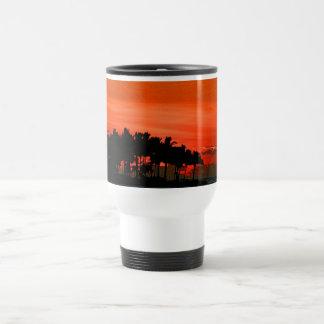 Florida sunset with palm trees travel mug