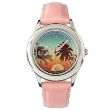 Florida Sunset Wrist Watch