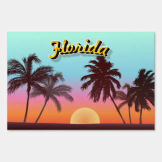 Florida Sunset Lawn Signs