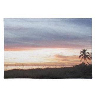 Florida sunsets palm ocean place mat
