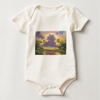 Florida Sunshine with Purple Clouds Baby Bodysuit