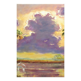 Florida Sunshine with Purple Clouds Stationery