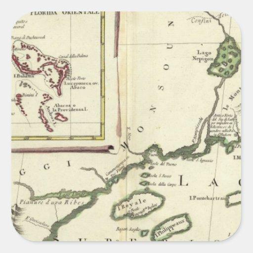 Florida, Superior Lakes, Bahamas Square Sticker