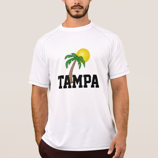 Florida tampa palm tree and sun t shirt zazzle for Tampa t shirt printing