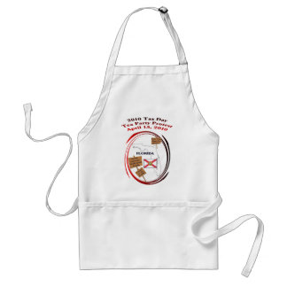 Florida Tax Day Tea Party Protest Adult Apron