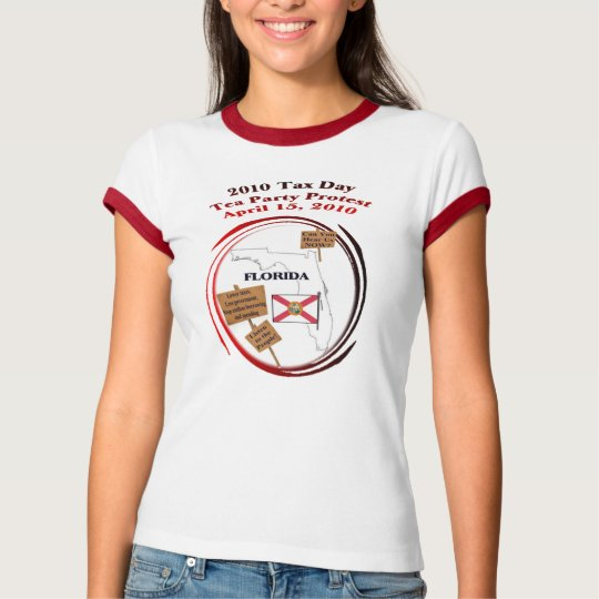 Florida Tax Day Tea Party Protest T-Shirt
