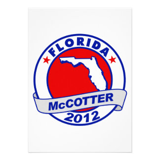 Florida Thad McCotter Personalized Invitations