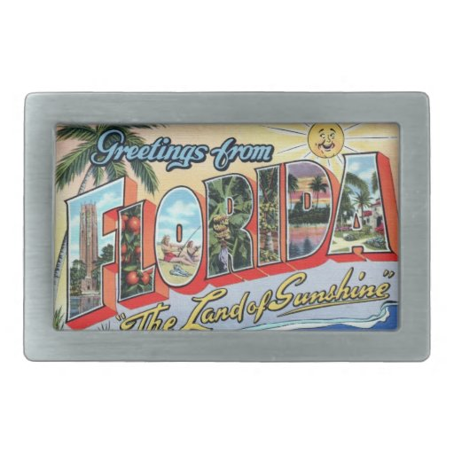 FLORIDA - The Land of Sunshine Belt Buckle