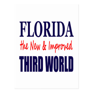Florida the New & Improved THIRD World Postcard